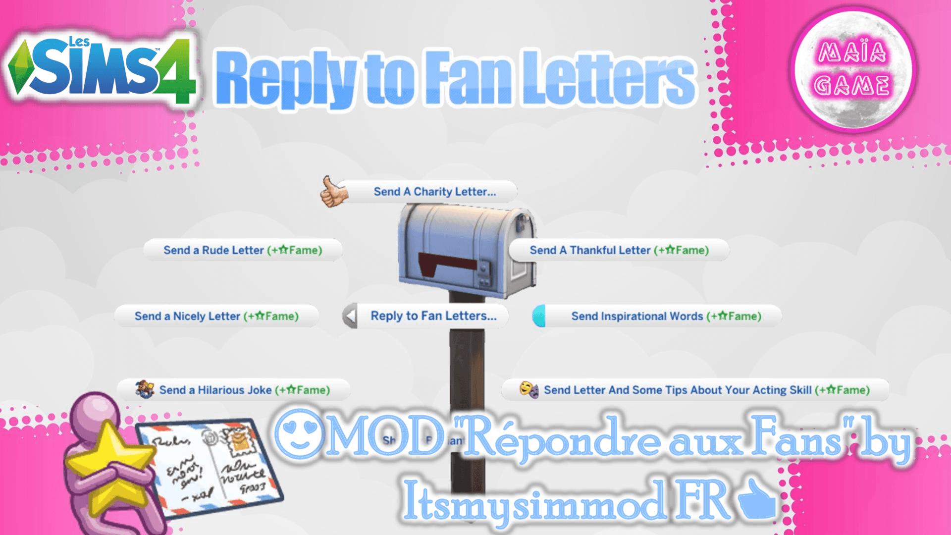 Mod Répondre aux fans Sims 4
